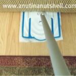 Lysol Clean-Flip sweeper under furniture