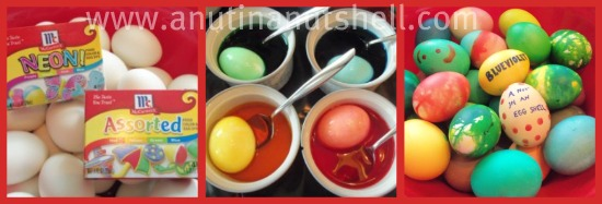 dying eggs with food coloring