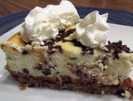Chocolate Chip Cookie Dough Cheesecake - Lizventures