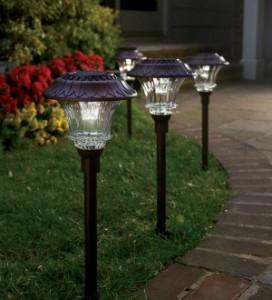 Plow & Hearth solar path lights