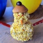 popcorn ball snowman