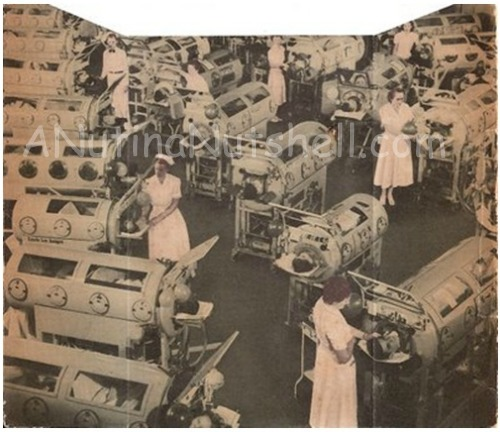 polio hospital iron lungs