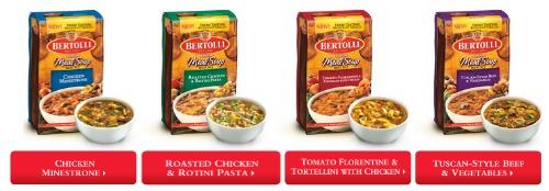 Bertolli Meal Soups lineup