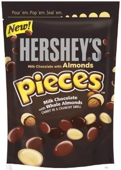 HERSHEY'S Milk Chocolate with Almonds PIECES