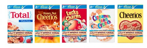 Whole grain General Mills cereal