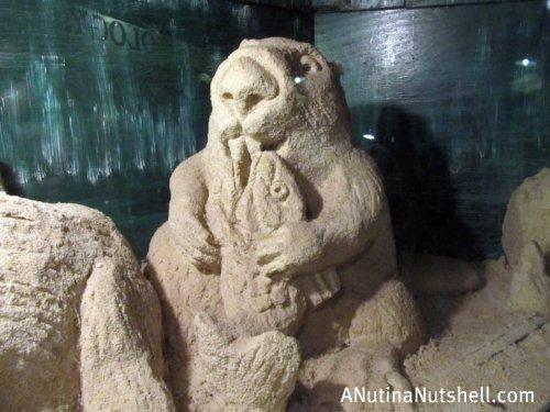 Neuseway nature center sand sculpture