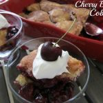 Cherry Blueberry Cobbler with Fresh Cherries