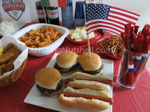 Olympics-party-USA-food
