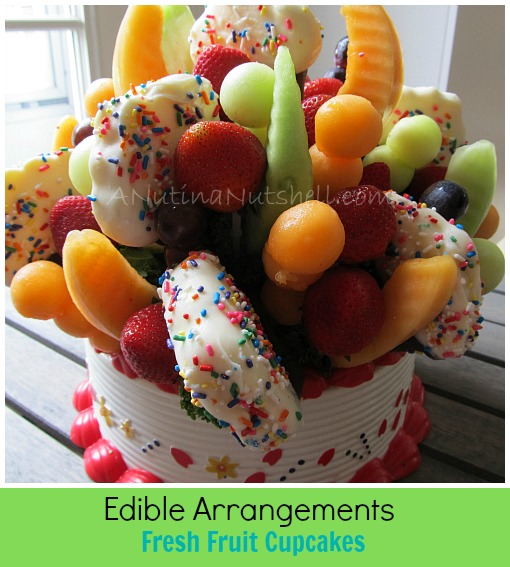 Edible Arrangements Fresh Fruit Confetti Cupcakes