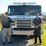 A Visit From my Local Firefighters for Fire Prevention Month