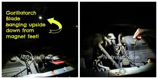 Joby-gorillatorch-blade-under-hood-light