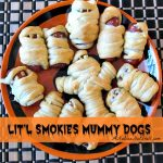 Easy Halloween Party Food: Lit'l Smokies Mummy Dogs from Hillshire Farm