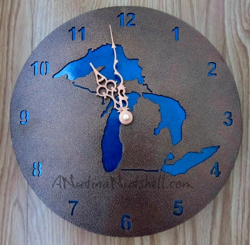Michigan-clock-Michigan-in-Metal