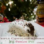Triple Chocolate S'mores Ice Cream Pie #IDBaking