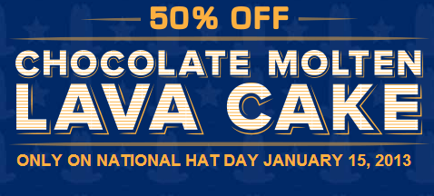 Arbys National Hat Day discount