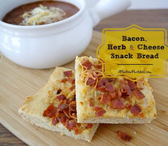 Bacon, Herb & Cheese Snack Bread