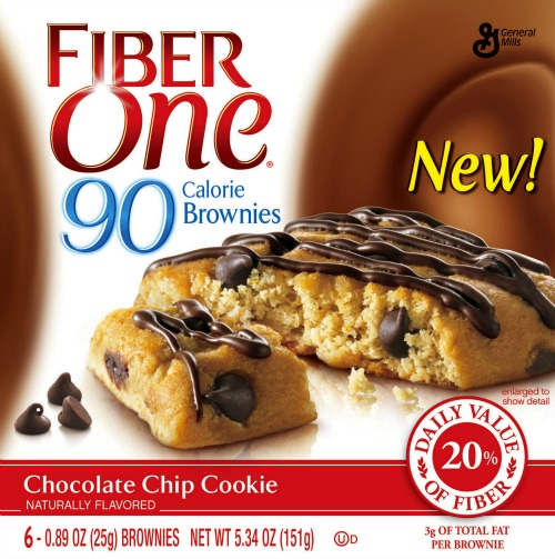 Fiber One Chocolate Chip Cookie Brownies