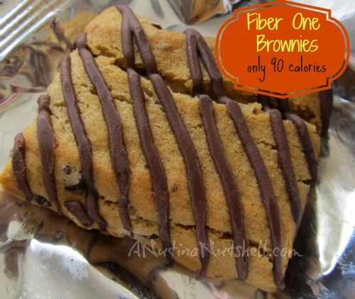 Fiber One chocolate chip brownies 90 calories
