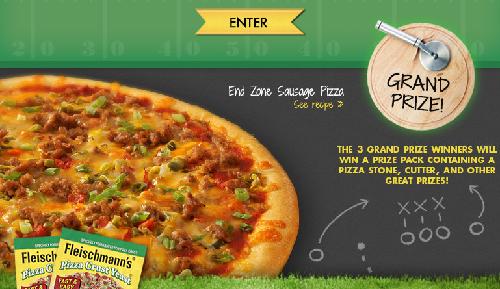 Fleischmann's Big Game Pizza Crust Yeast Sweepstakes