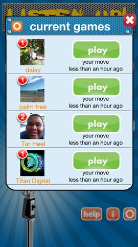 Listen Up Lite app players screenshot