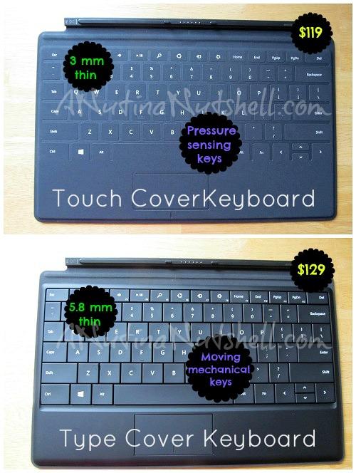 Microsoft Surface keyboard options