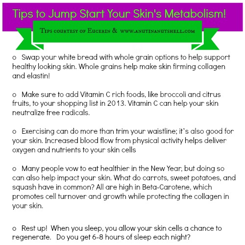 Tips to jump start skin metabolism