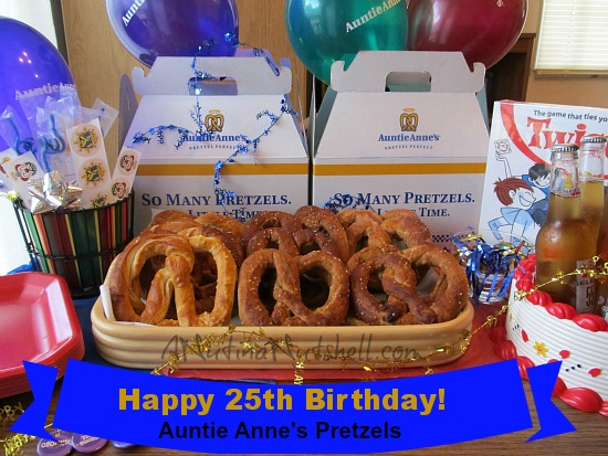 Auntie Anne's Pretzels 25th birthday