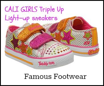 CALI Girls Triple Up Light-up Sneakers _ Famous Footwear