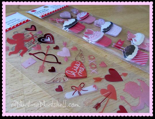 Martha Stewart Crafts Cupid stickers - Cupcake stickers