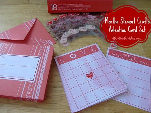 Martha Stewart Crafts Valentine Card Set