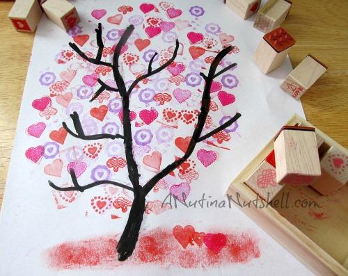 Martha Stewart Crafts Valentine Stamps craft