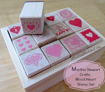 Martha Stewart Crafts Wood Heart Stamp Set