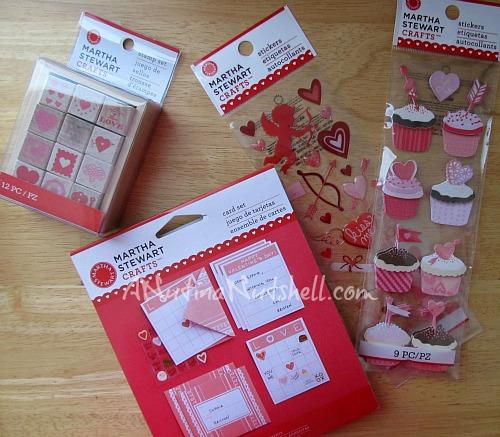 Martha Stewart Valentine crafts supplies