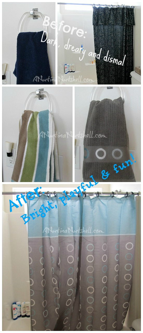 Anna's Linens shower curtain-towels