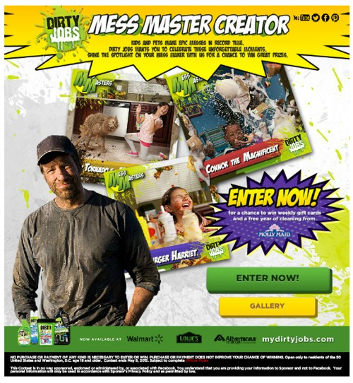 Dirty Jobs Mess Masters Contest