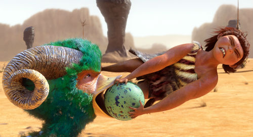 The Croods -egg in beak scene