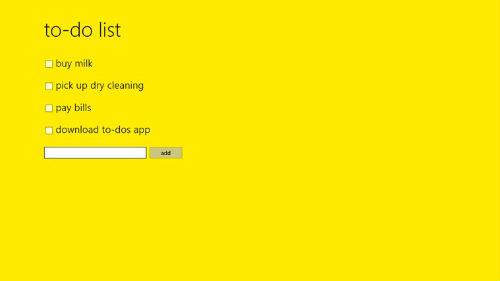 To-Do app Windows 8