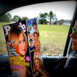 reading People magazine- car