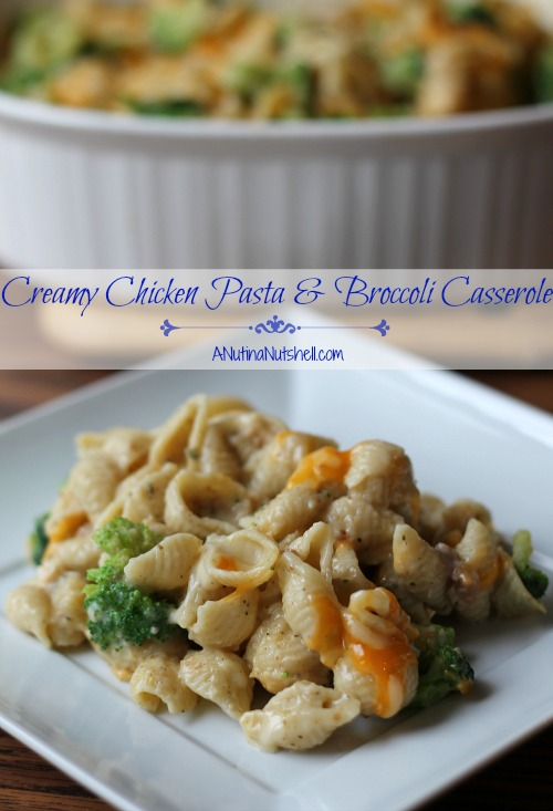 Creamy Chicken Pasta & Broccoli Casserole