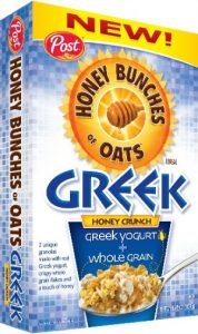 Honey Bunches of Oats Greek Honey Crunch box