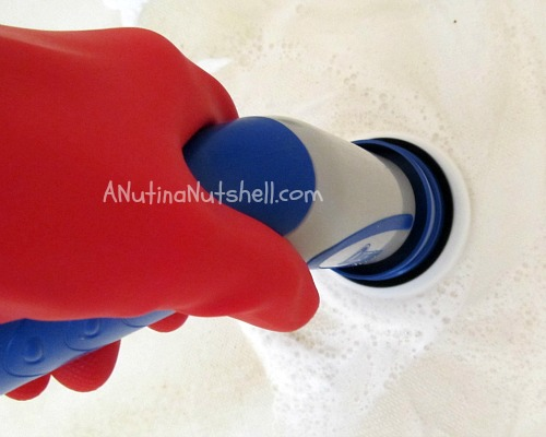 using Quickie scrubber