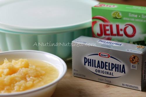 lime jello-cream cheese-pineapple