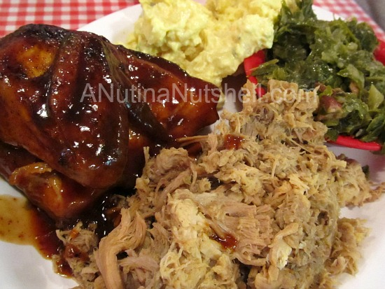 King's BBQ and Chicken Combo Platter