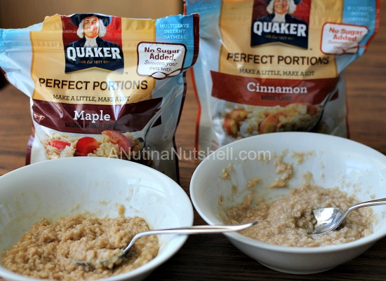 Quaker Perfect Portions maple and cinnamon