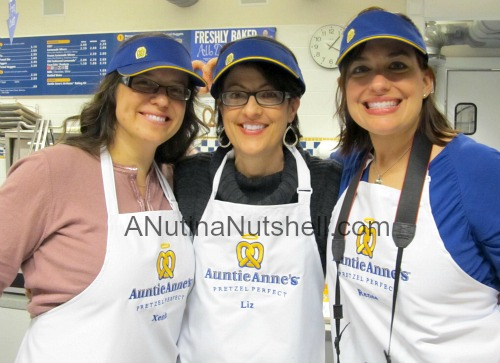me, Xenia, Renee at Auntie Anne's
