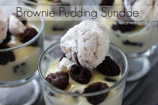 Brownie Pudding Sundae #recipe