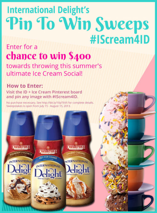 International Delight Pin to Win Sweeps