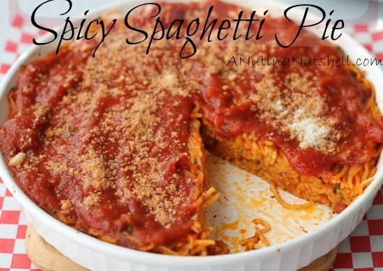 Spicy Spaghetti Pie recipe