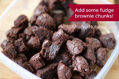 fudge brownie chunks