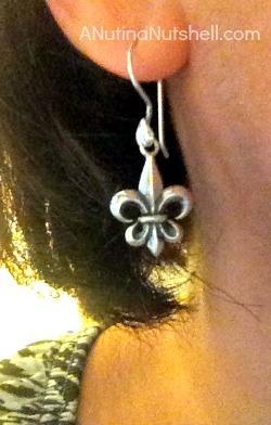 New Orleans souvenir fleur de lis earrings